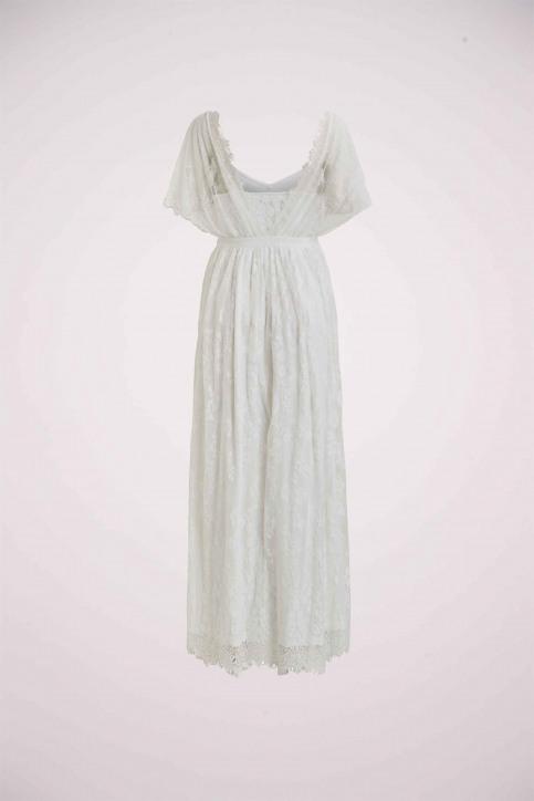 VILA Robes longues blanc 14055686_CLOUD DANCER img3
