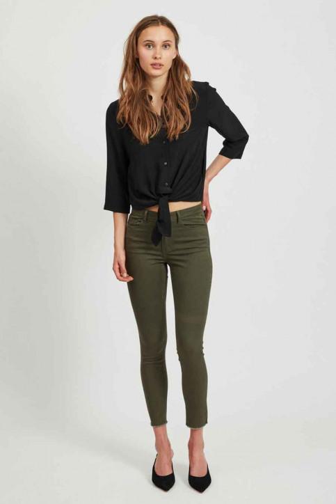 VILA Pantalons colorés vert 14058626_FOREST NIGHT img1