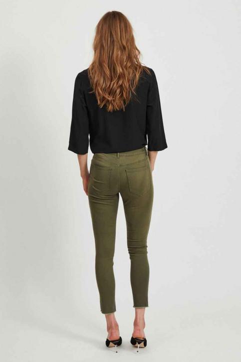 VILA Pantalons colorés vert 14058626_FOREST NIGHT img3