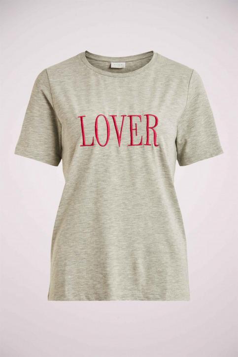 VILA® T-shirts (korte mouwen) grijs 14060587_LIGHT GREY MELA img1