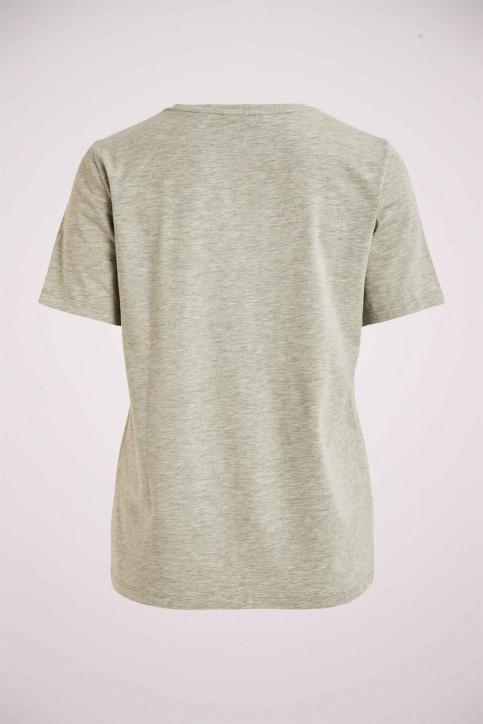 VILA® T-shirts (korte mouwen) grijs 14060587_LIGHT GREY MELA img2
