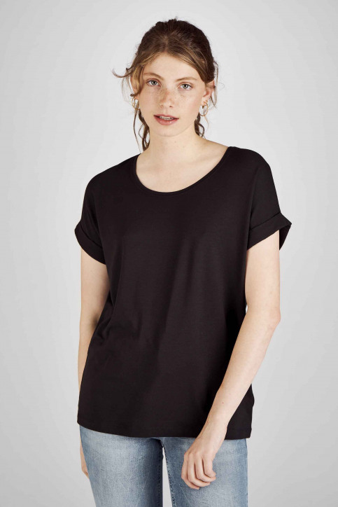 ONLY Tops (korte mouwen) zwart 15106662_BLACKSOLID BLA img1