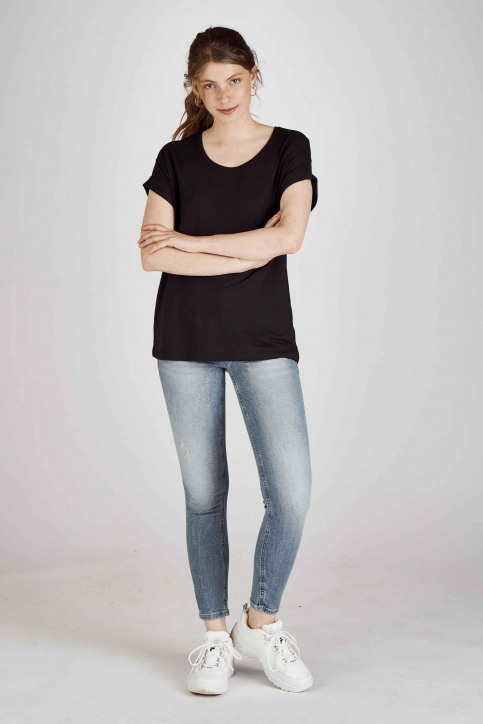 ONLY Tops (korte mouwen) zwart 15106662_BLACKSOLID BLA img2