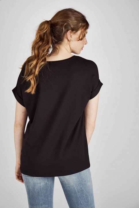 ONLY Tops (korte mouwen) zwart 15106662_BLACKSOLID BLA img3