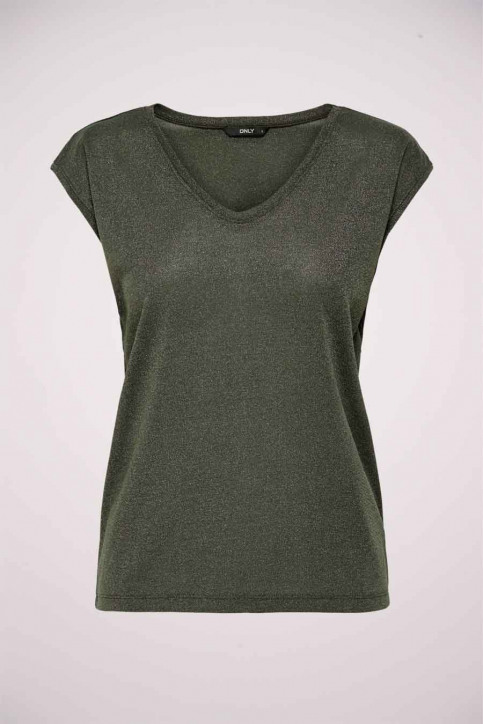 ONLY Tops uni manche courte vert 15136069_KALAMATA img7