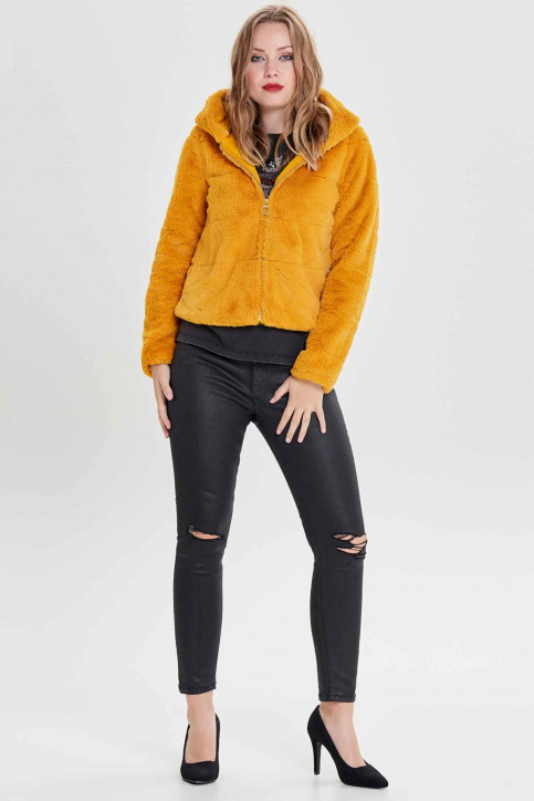 ONLY® Vestes courtes jaune 15156560_GOLDEN YELLOW img5