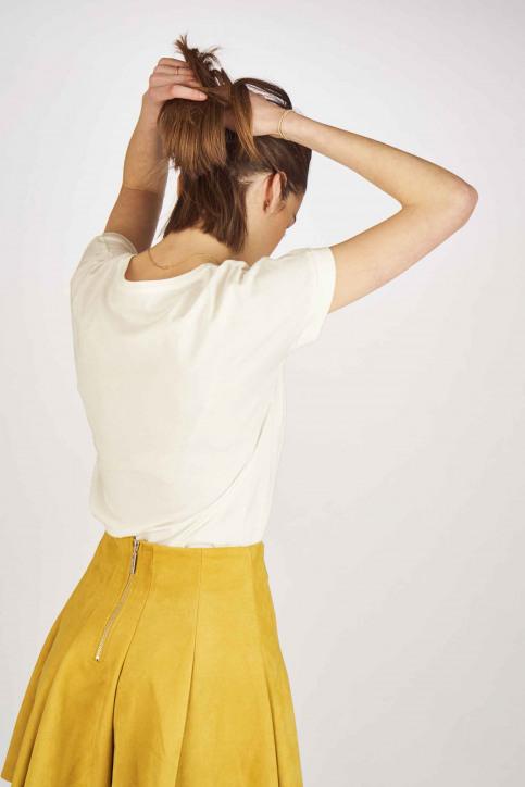 JACQUELINE de YONG Tops uni manche courte blanc 15157925_CLOUD DANCER img3