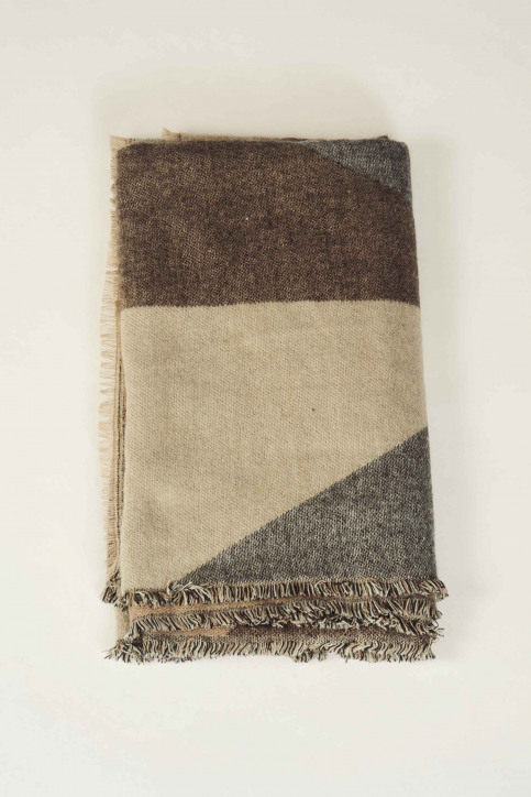 ONLY Wintersjaals zwart 15160439_BLACK TAUPE GRE img1