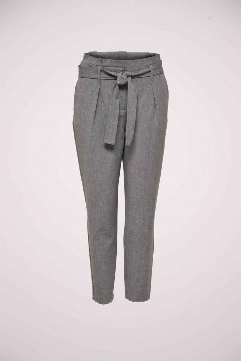 ONLY Pantalons gris 15160446_LIGHT GREY MELA img1