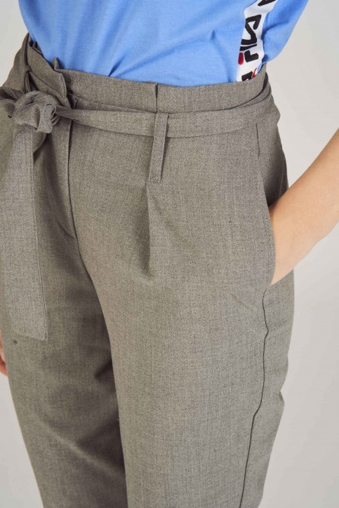 ONLY Pantalons gris 15160446_LIGHT GREY MELA img4