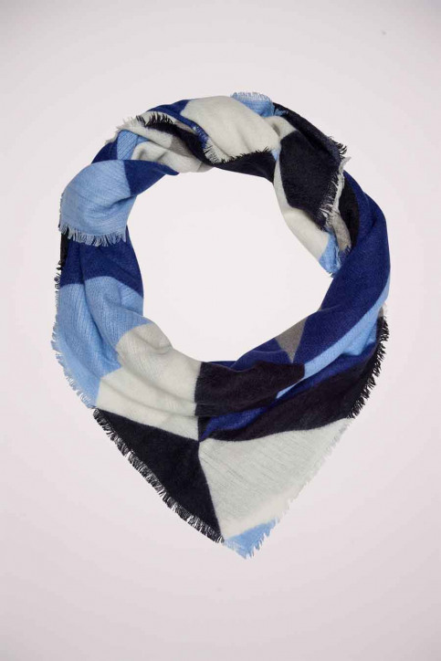 ONLY Wintersjaals blauw 15160599_BLUE PRINT img1