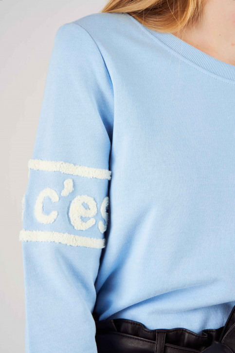 ONLY Sweats col O bleu 15169687_POWDER BLUE img4