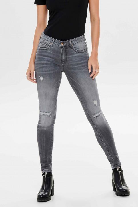 ONLY Jeans skinny gris 15170819_GREY DENIM img1