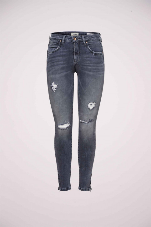 ONLY Jeans skinny gris 15170819_GREY DENIM img7
