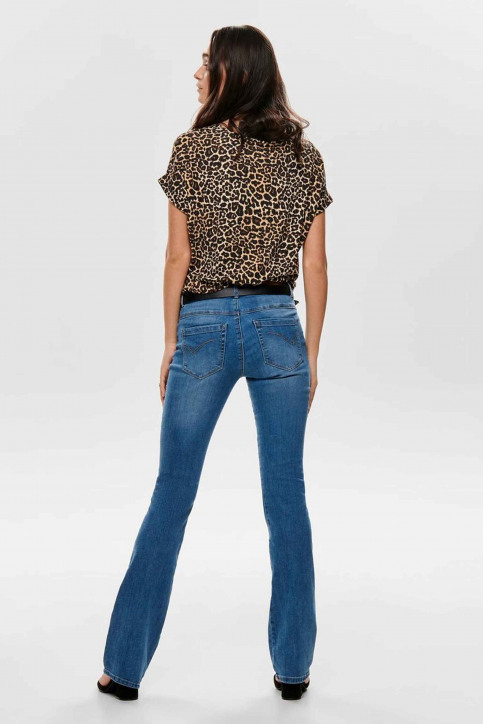 ONLY T-shirts (manches courtes) brun 15182852_BLACK LEO img2