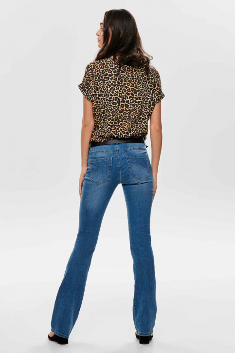 ONLY T-shirts (manches courtes) brun 15182852_BLACK LEO img3