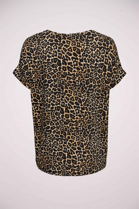 ONLY T-shirts (manches courtes) brun 15182852_BLACK LEO img7