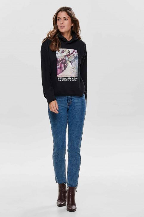 ONLY Sweaters met kap zwart 15186517_BLACK img2