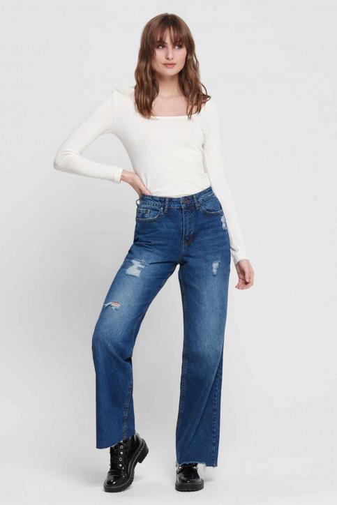 JACQUELINE DE YONG Jeans wide denim 15193394_MEDIUM BLUE DEN img1