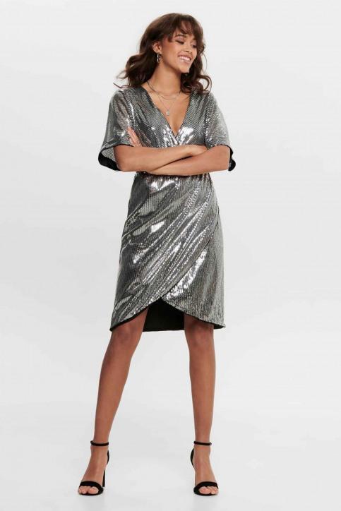 JACQUELINE de YONG Robes courtes noir 15194746_BLACK SILVER SE img1