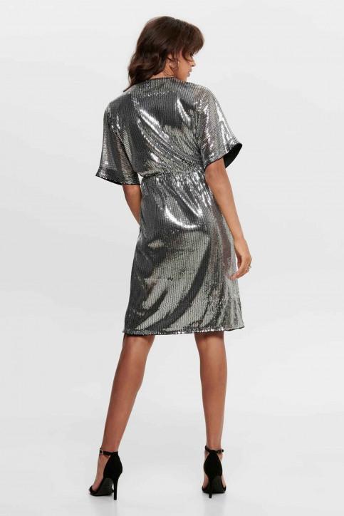 JACQUELINE de YONG Robes courtes noir 15194746_BLACK SILVER SE img3