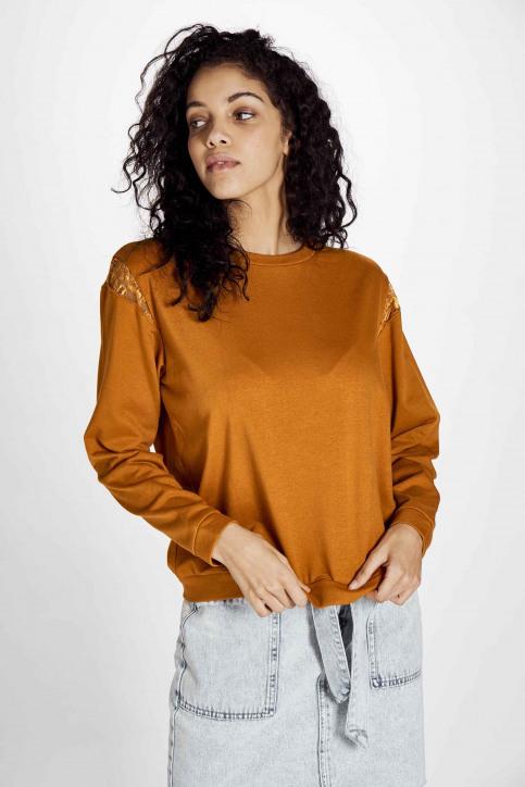 JACQUELINE de YONG Sweaters met ronde hals beige 15195448_HONEY GINGER img1
