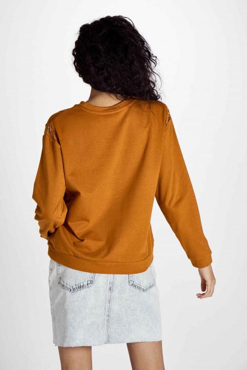 JACQUELINE de YONG Sweaters met ronde hals beige 15195448_HONEY GINGER img3