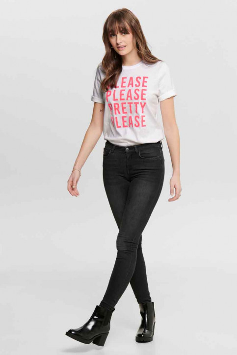 ONLY® T-shirts (korte mouwen) wit 15195777_BRIG WHI PLEASE img2