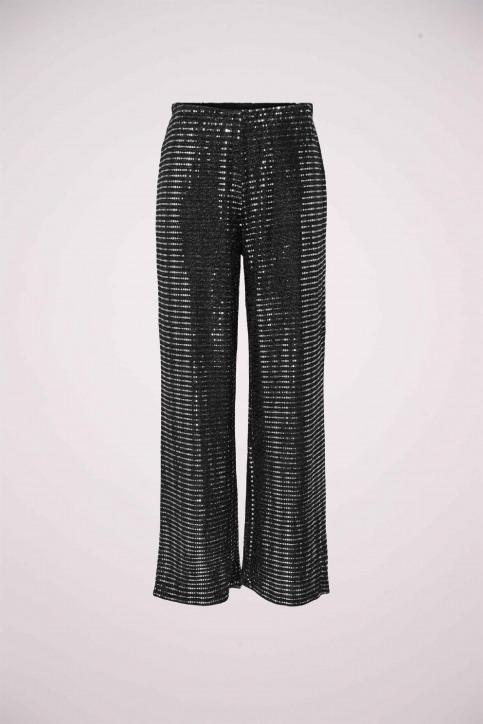 JACQUELINE DE YONG Pantalons noir 15197040_BLACK SILVER RU img1