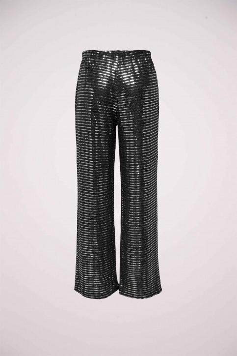 JACQUELINE DE YONG Pantalons noir 15197040_BLACK SILVER RU img2