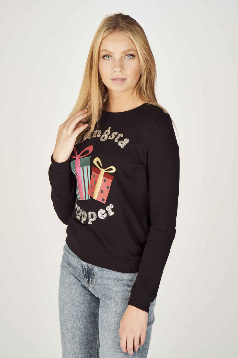 ONLY Sweaters met ronde hals zwart 15198497_BLACK img1