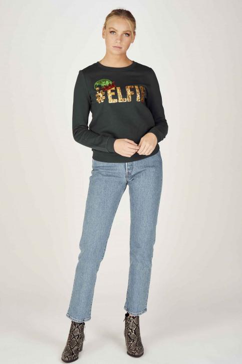 ONLY Sweaters met ronde hals groen 15198497_PONDEROSA PINE img2