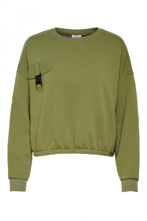 ONLY Sweaters met ronde hals groen 15198638_MARTINI OLIVE img1