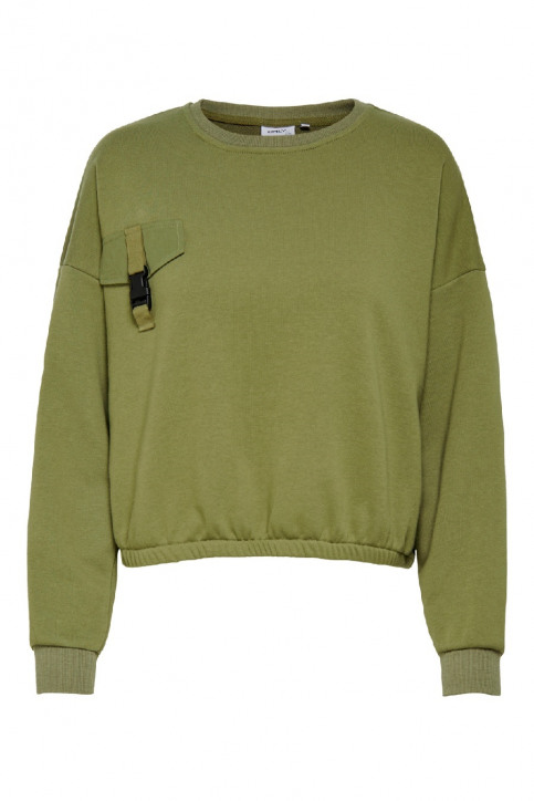 ONLY Sweaters met ronde hals groen 15198638_MARTINI OLIVE img3