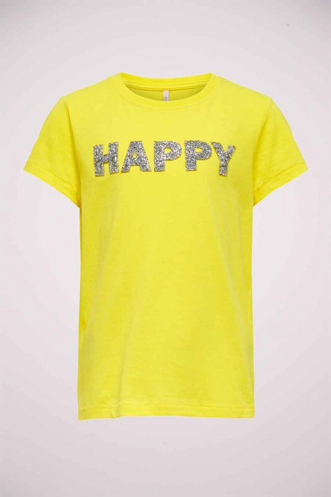 ONLY T-shirts manches courtes jaune 15206124_BUTTERCUP SIL B img1