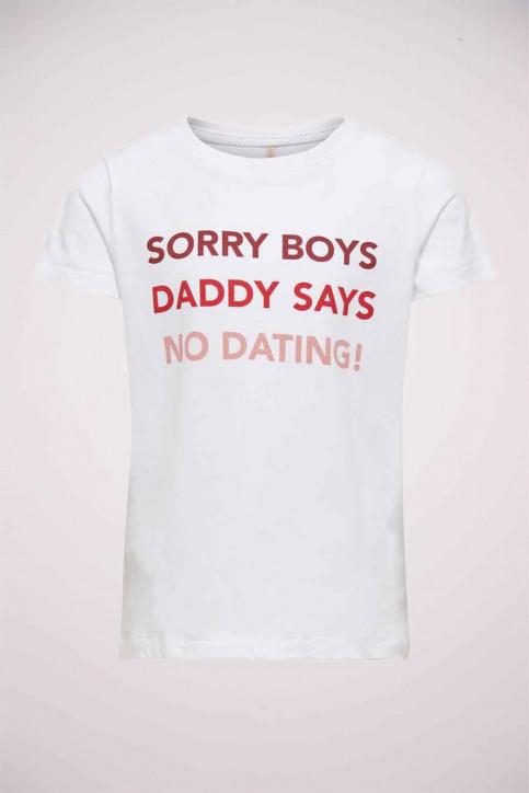 ONLY Girls tops t-shirt uni korte mouw blanc 15213247_BRIGHT WHITE img1