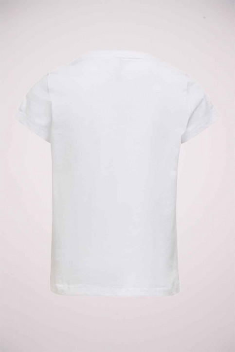 ONLY Girls tops t-shirt uni korte mouw wit 15213247_BRIGHT WHITE img2
