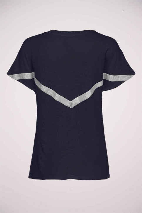 ONLY T-shirts (manches courtes) bleu 15214493_NIGHT SKY BL BA img2