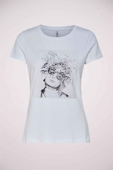 ONLY T-shirts (manches courtes) blanc 15215655_BRIGHT WHITE FL img1