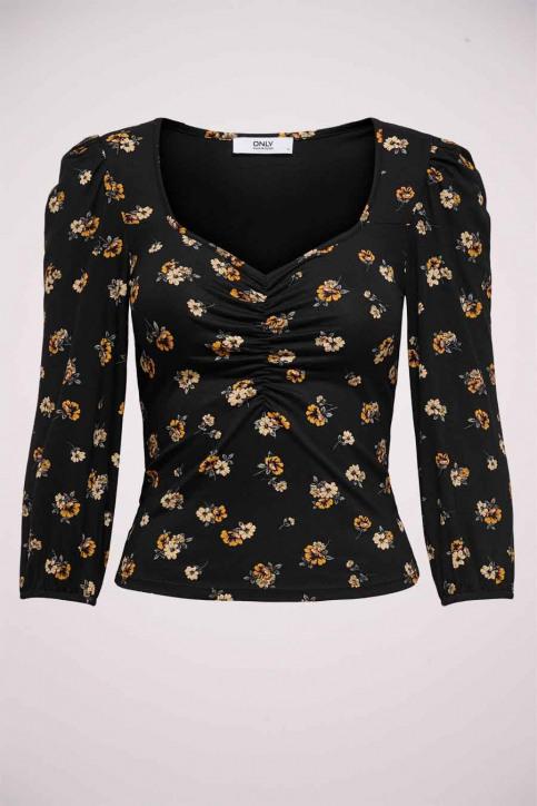 ONLY T-shirts (lange mouwen) zwart 15232725_BLACK FLOWER img1