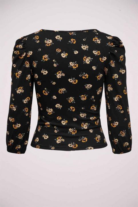 ONLY T-shirts (lange mouwen) zwart 15232725_BLACK FLOWER img2