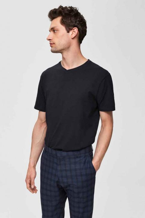SELECTED T-shirts (korte mouwen) zwart 16034243_BLACK img1