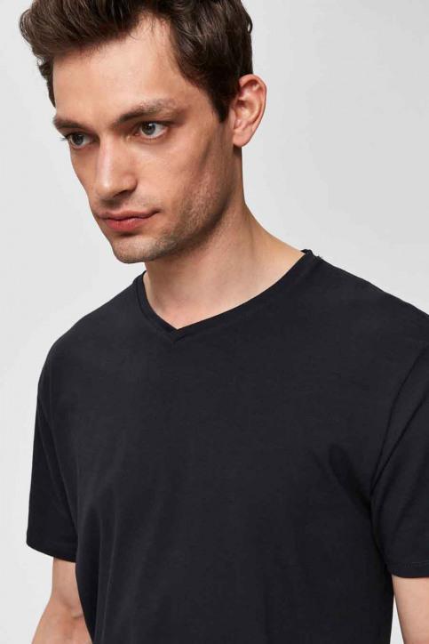 SELECTED T-shirts (korte mouwen) zwart 16034243_BLACK img3