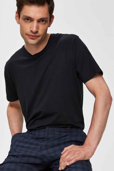 SELECTED T-shirts (korte mouwen) zwart 16034243_BLACK img4