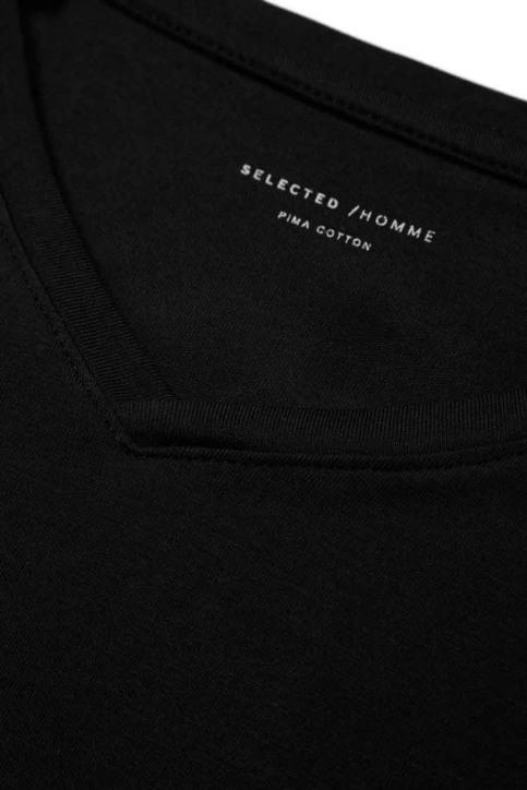 SELECTED T-shirts (korte mouwen) zwart 16034243_BLACK img10