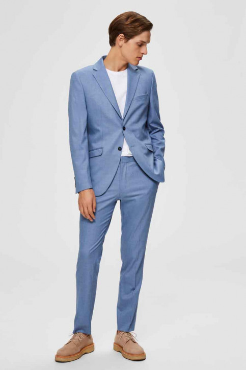 SELECTED Kostuumbroeken blauw 16072414_LIGHT BLUE img4
