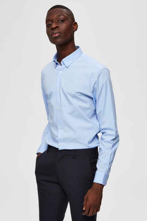 SELECTED Hemden (lange mouwen) blauw 16073122_LIGHT BLUE img1