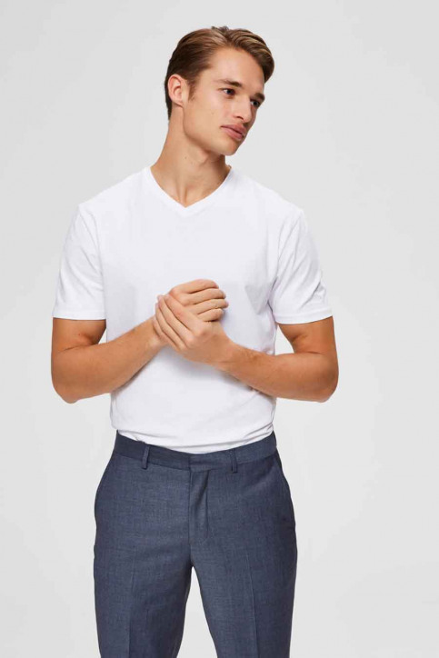 SELECTED T-shirts (manches courtes) blanc 16073458_BRIGHT WHITE img1