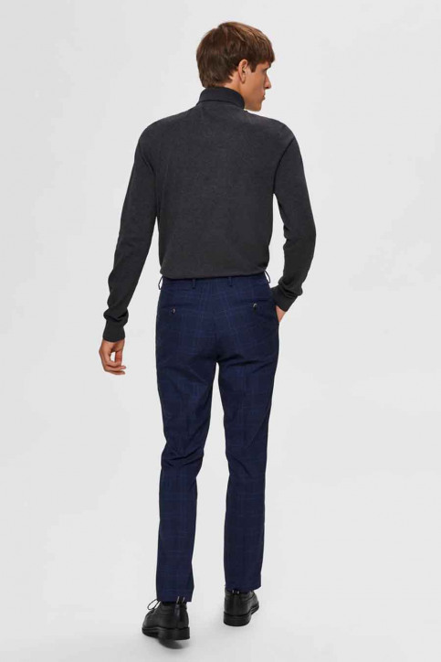 SELECTED Pulls col montant gris 16074684_ANTHRACITE MELA img3