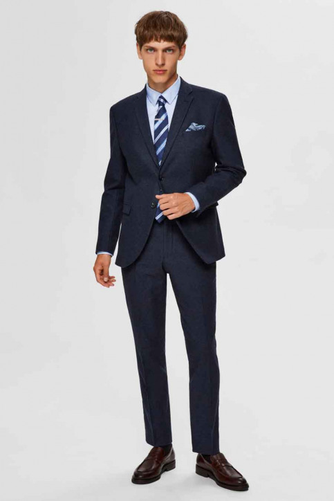 SELECTED Blazers blauw 16075089_MED BLUE MEL img5